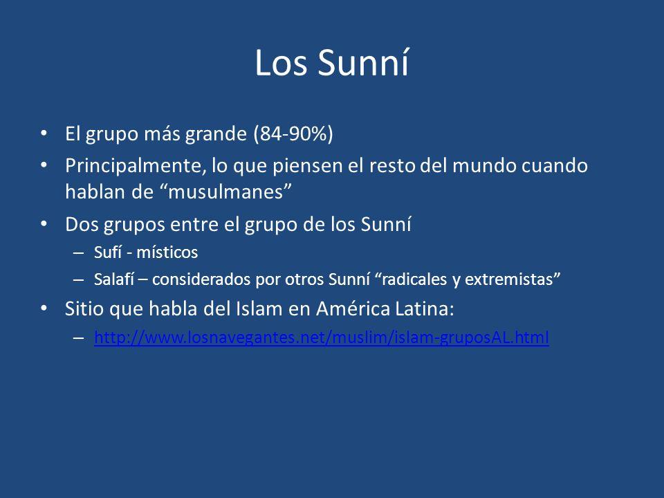 Los Sunní El grupo más grande (84-90%)