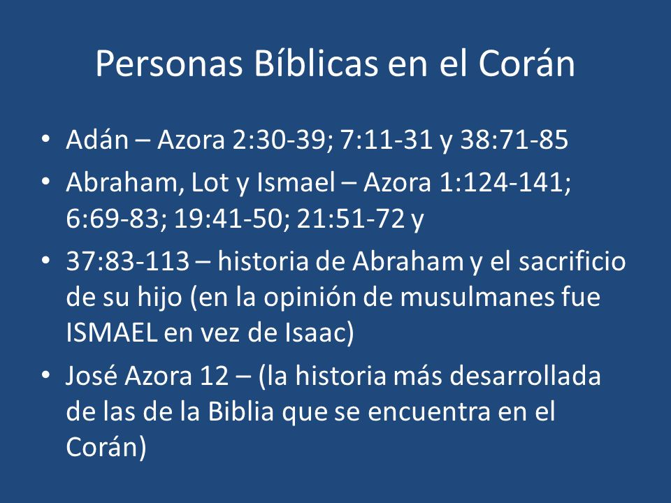 Personas Bíblicas en el Corán