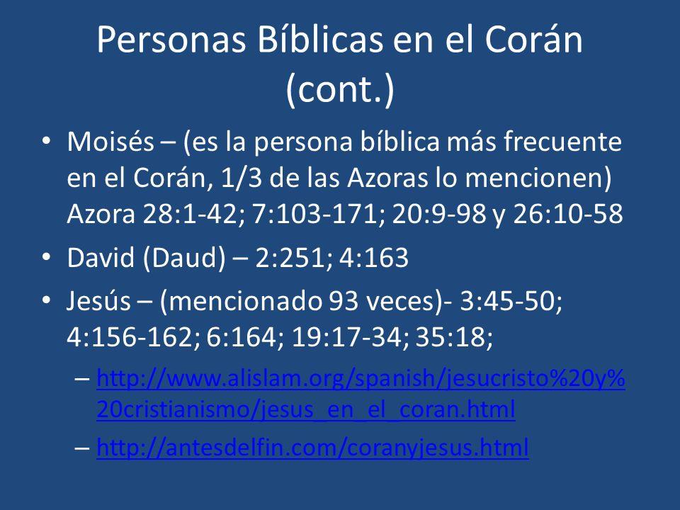 Personas Bíblicas en el Corán (cont.)