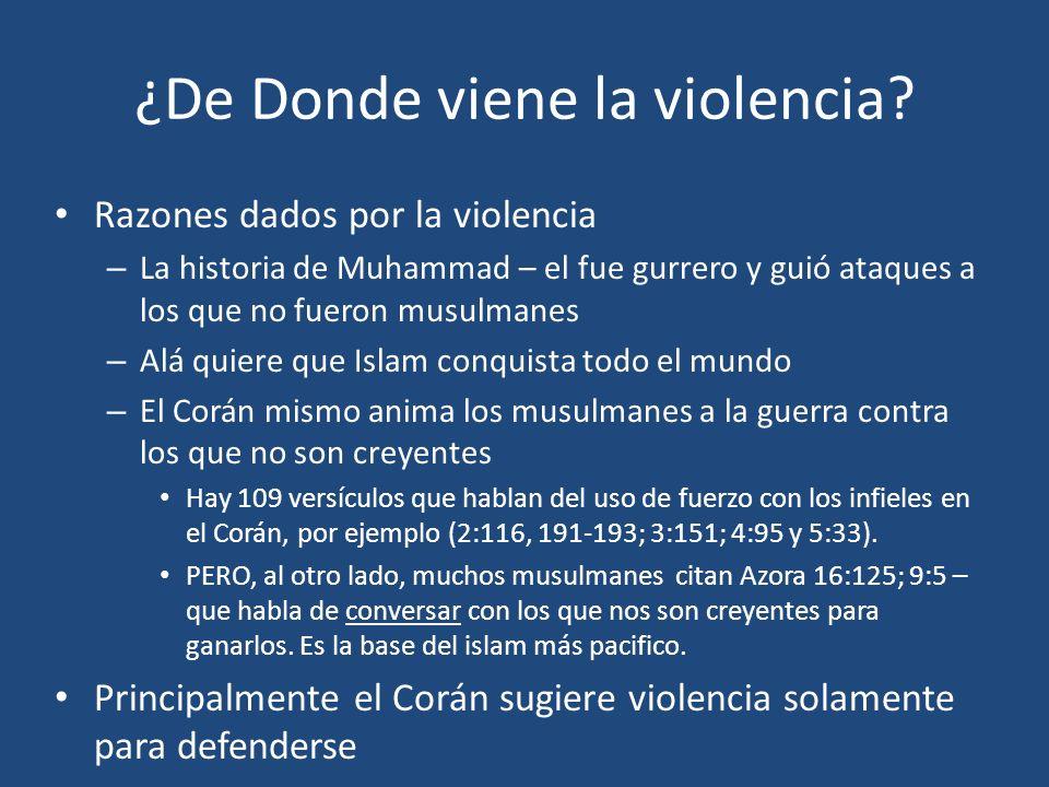 ¿De Donde viene la violencia