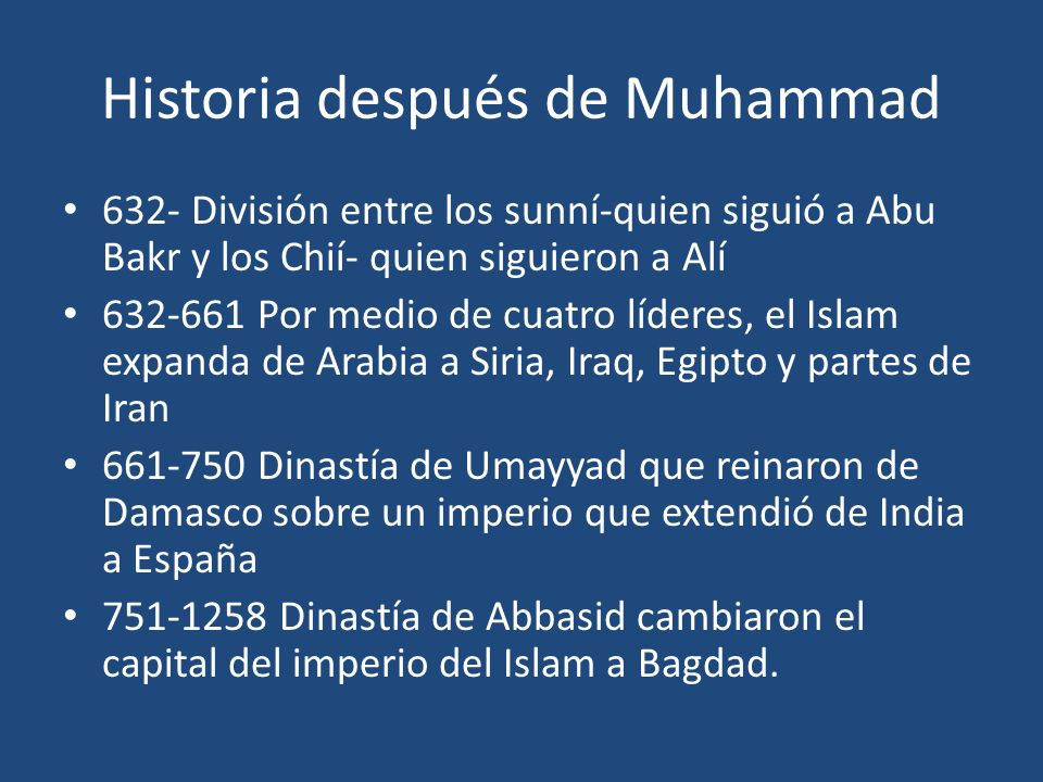 Historia después de Muhammad