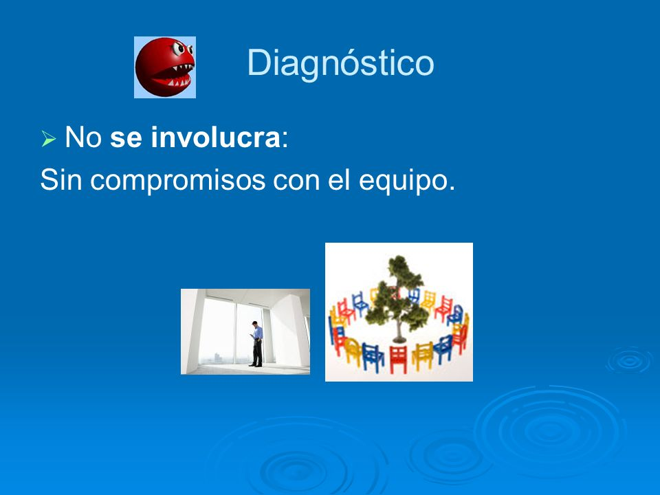 Diagnóstico No se involucra: Sin compromisos con el equipo.