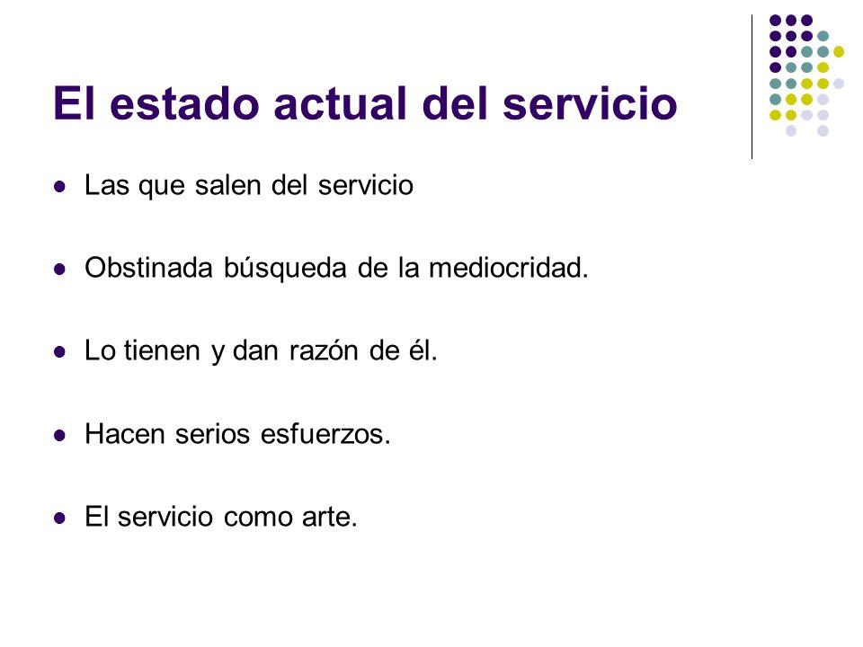 El estado actual del servicio