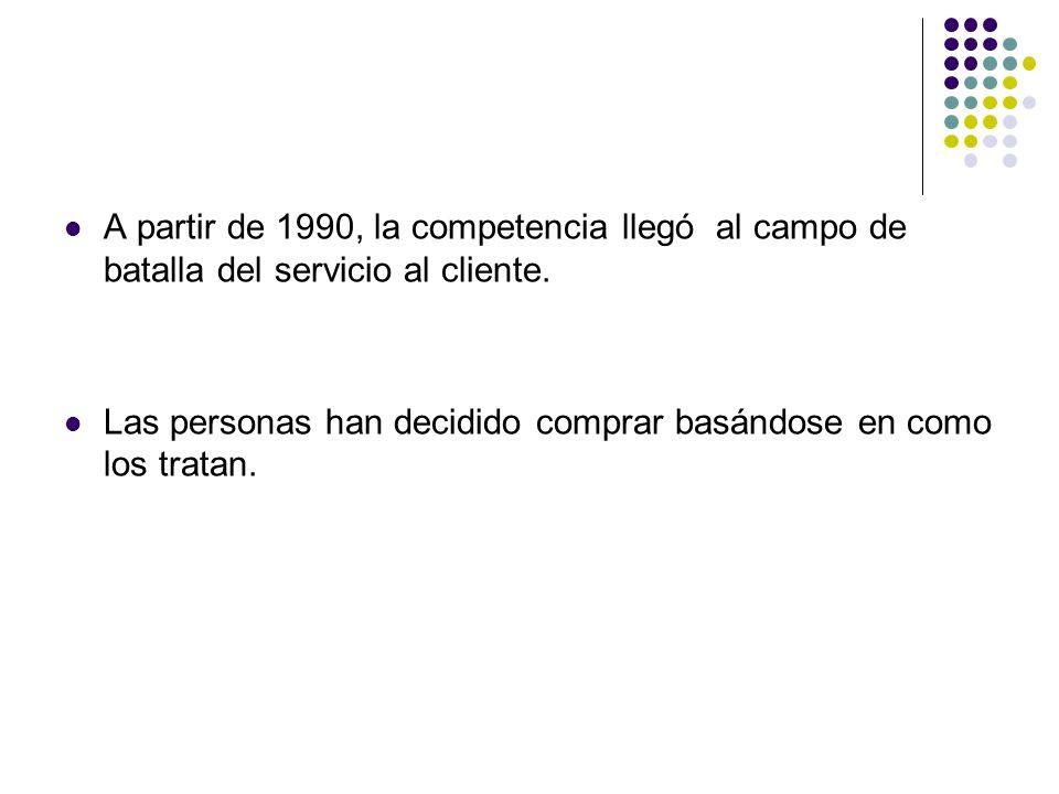 A partir de 1990, la competencia llegó al campo de batalla del servicio al cliente.