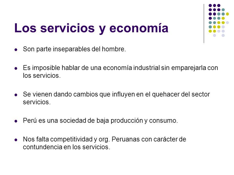 Los servicios y economía