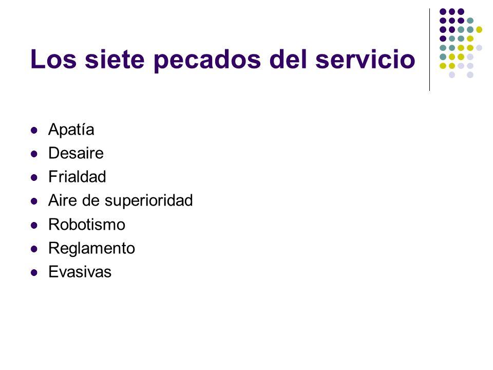 Los siete pecados del servicio