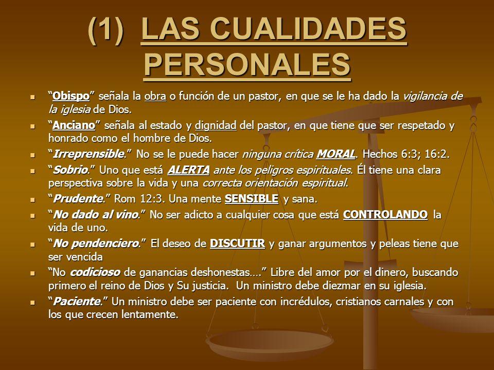(1) LAS CUALIDADES PERSONALES