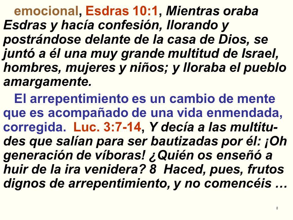 emocional, Esdras 10:1, Mientras oraba Esdras y hacía confesión, llorando y postrándose delante de la casa de Dios, se juntó a él una muy grande multitud de Israel, hombres, mujeres y niños; y lloraba el pueblo amargamente.