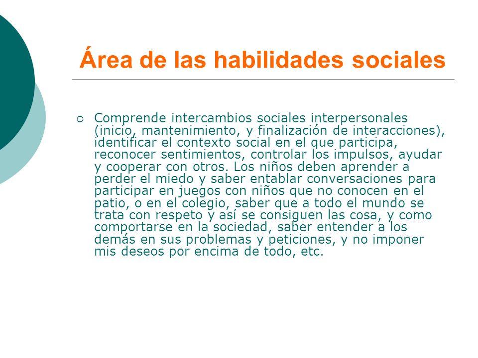 Área de las habilidades sociales