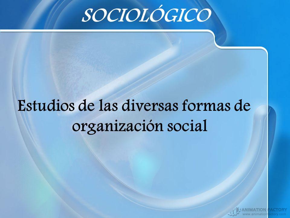 Estudios de las diversas formas de organización social