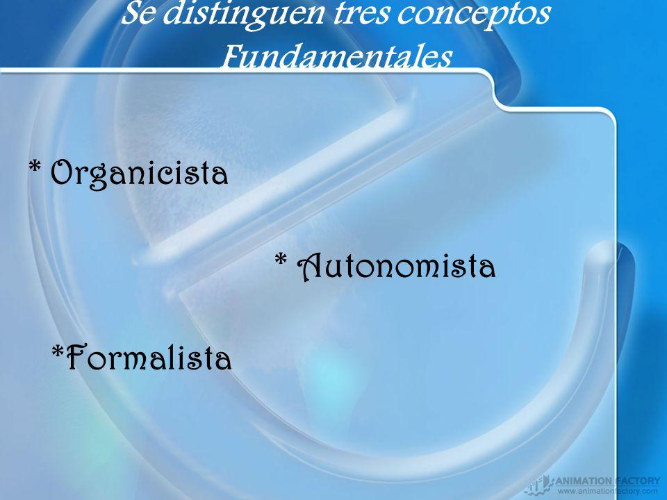 Se distinguen tres conceptos Fundamentales