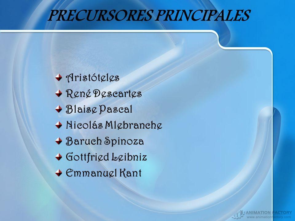 PRECURSORES PRINCIPALES