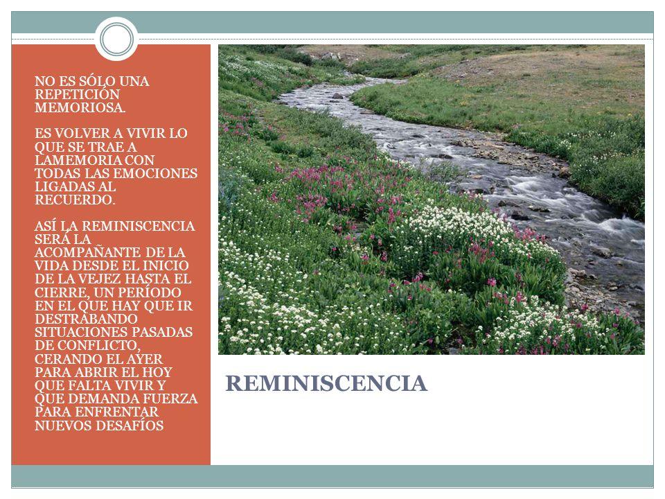 REMINISCENCIA NO ES SÓLO UNA REPETICIÓN MEMORIOSA.