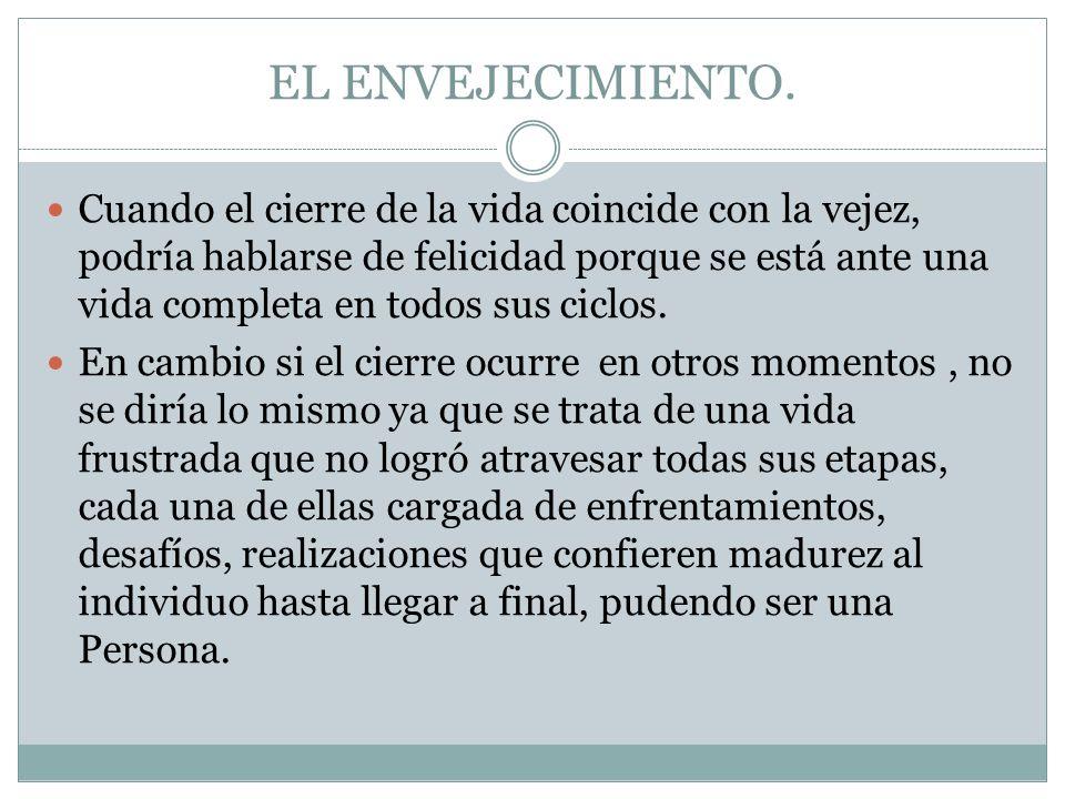 EL ENVEJECIMIENTO.