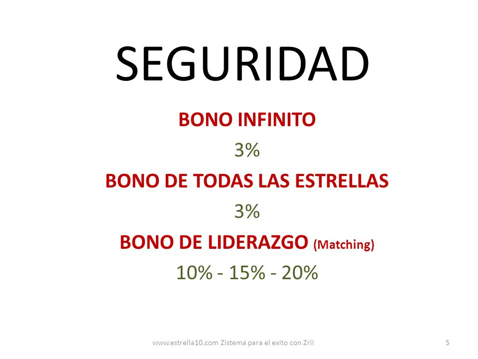 BONO DE TODAS LAS ESTRELLAS BONO DE LIDERAZGO (Matching)