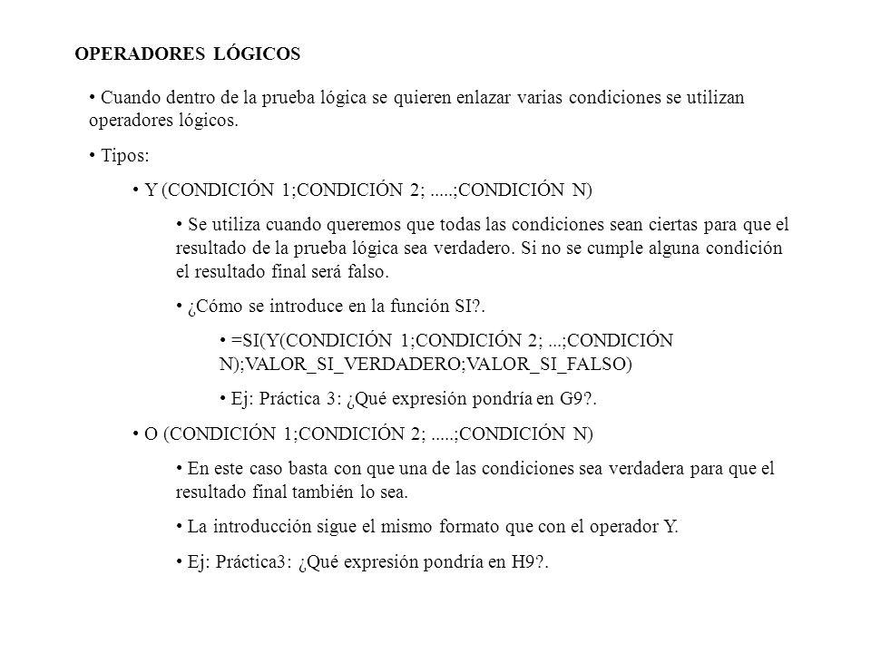OPERADORES LÓGICOSCuando dentro de la prueba lógica se quieren enlazar varias condiciones se utilizan operadores lógicos.