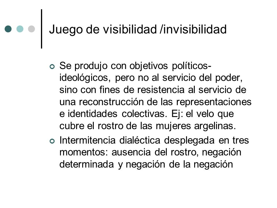 Juego de visibilidad /invisibilidad