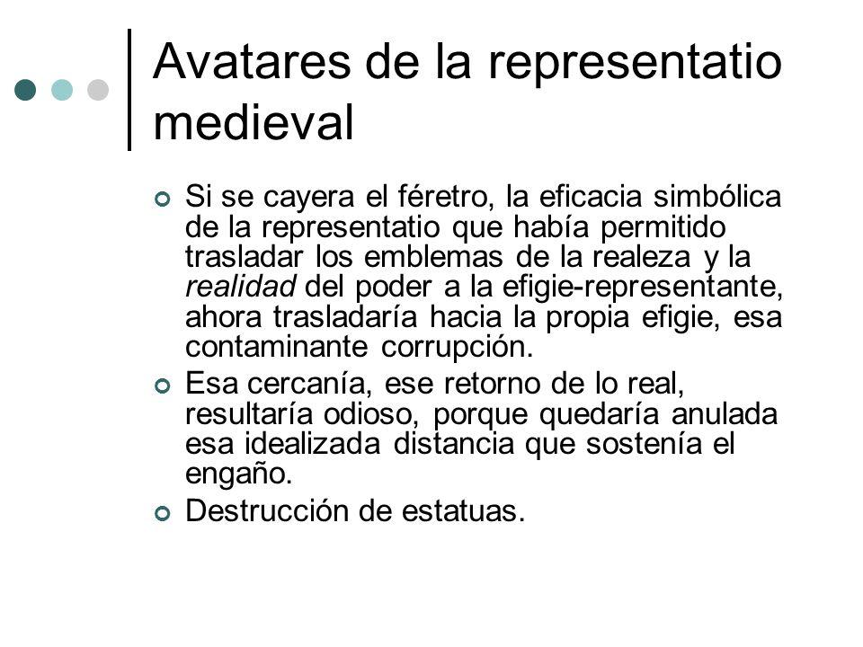 Avatares de la representatio medieval