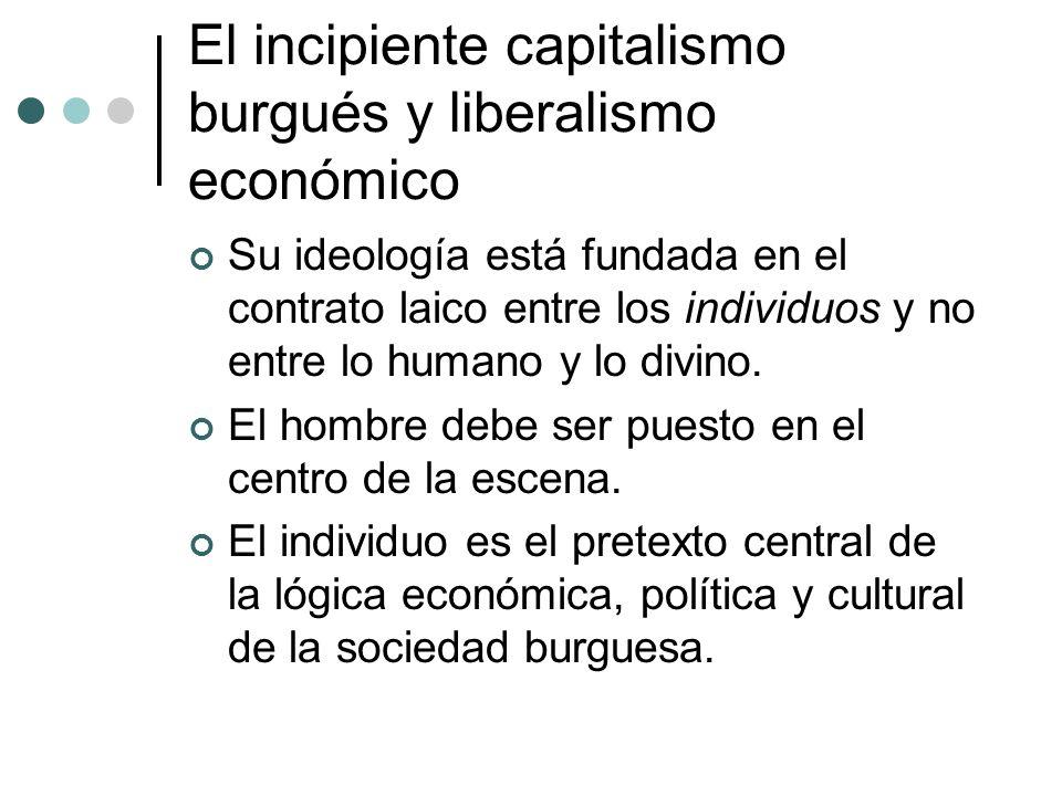 El incipiente capitalismo burgués y liberalismo económico