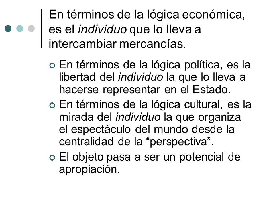 En términos de la lógica económica, es el individuo que lo lleva a intercambiar mercancías.
