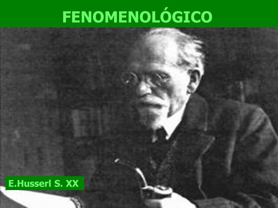 FENOMENOLÓGICO E.Husserl S. XX