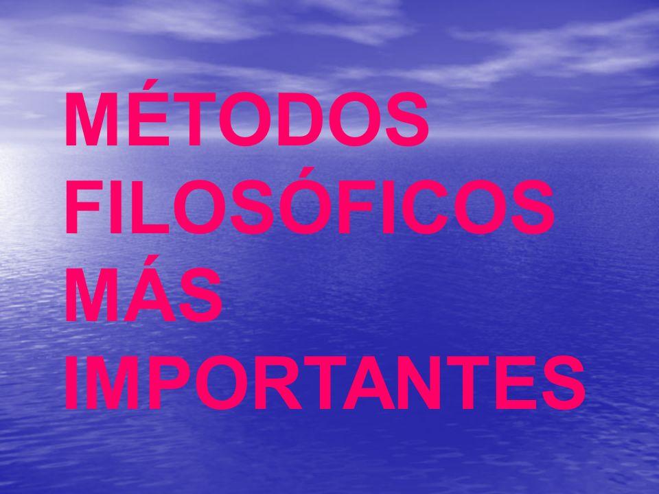 MÉTODOS FILOSÓFICOS MÁS IMPORTANTES