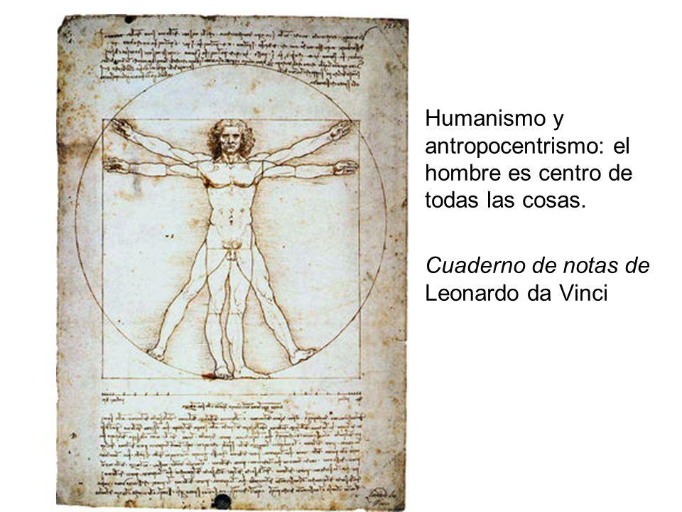 Humanismo y antropocentrismo: el hombre es centro de todas las cosas.