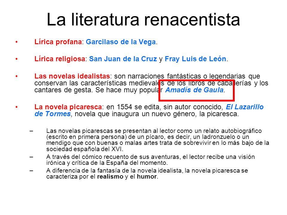 La literatura renacentista
