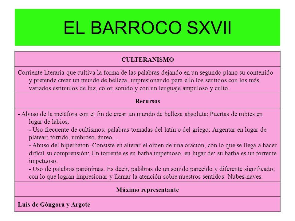EL BARROCO SXVII CULTERANISMO