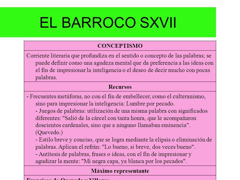 EL BARROCO SXVII CONCEPTISMO.