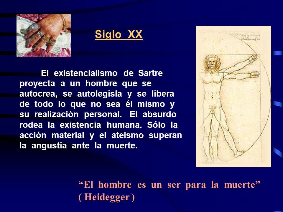 Siglo XX El hombre es un ser para la muerte ( Heidegger )