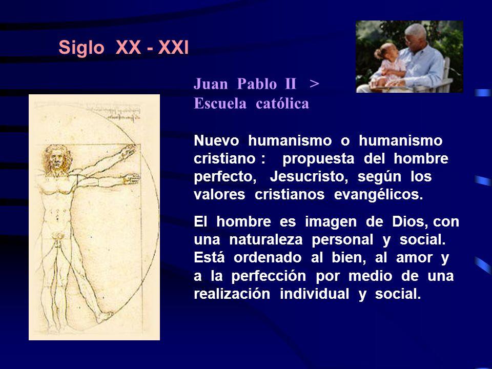 Siglo XX - XXI Juan Pablo II > Escuela católica