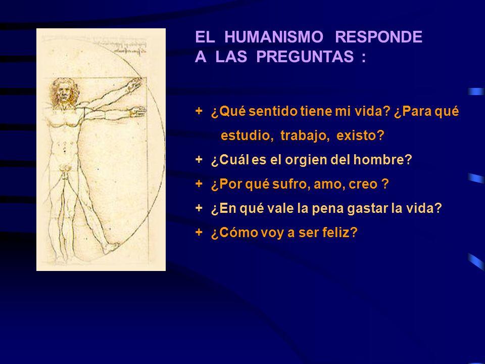 EL HUMANISMO RESPONDE A LAS PREGUNTAS :