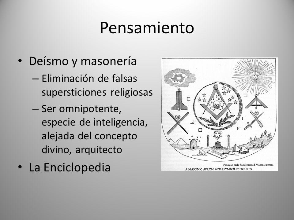 Pensamiento Deísmo y masonería La Enciclopedia