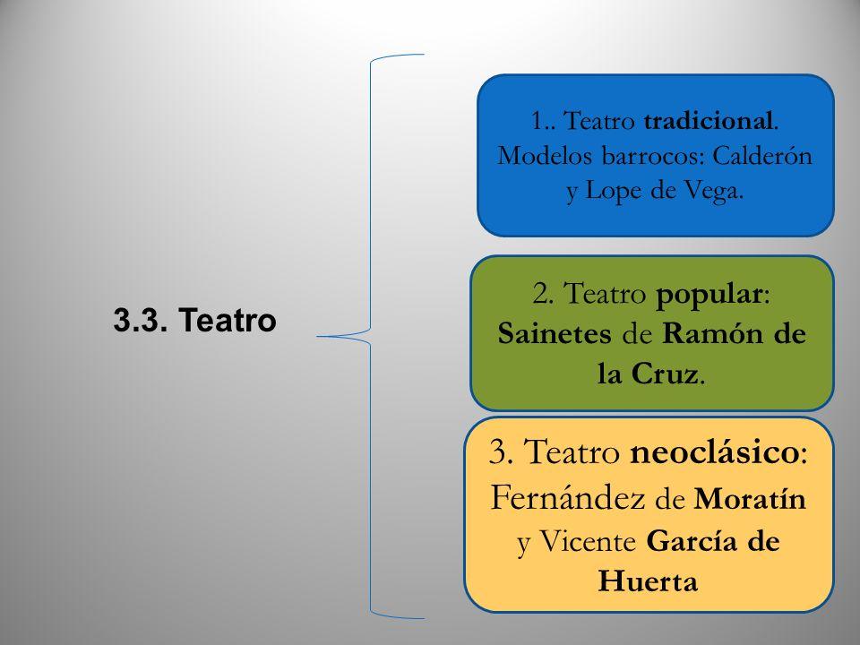 3. Teatro neoclásico: Fernández de Moratín y Vicente García de Huerta