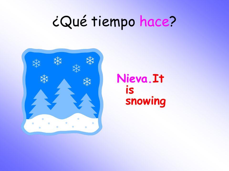 ¿Qué tiempo hace Nieva.It is snowing