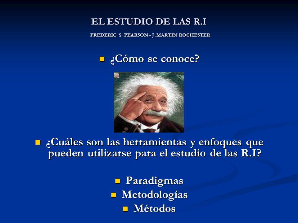 EL ESTUDIO DE LAS R.I FREDERIC S. PEARSON - J .MARTIN ROCHESTER