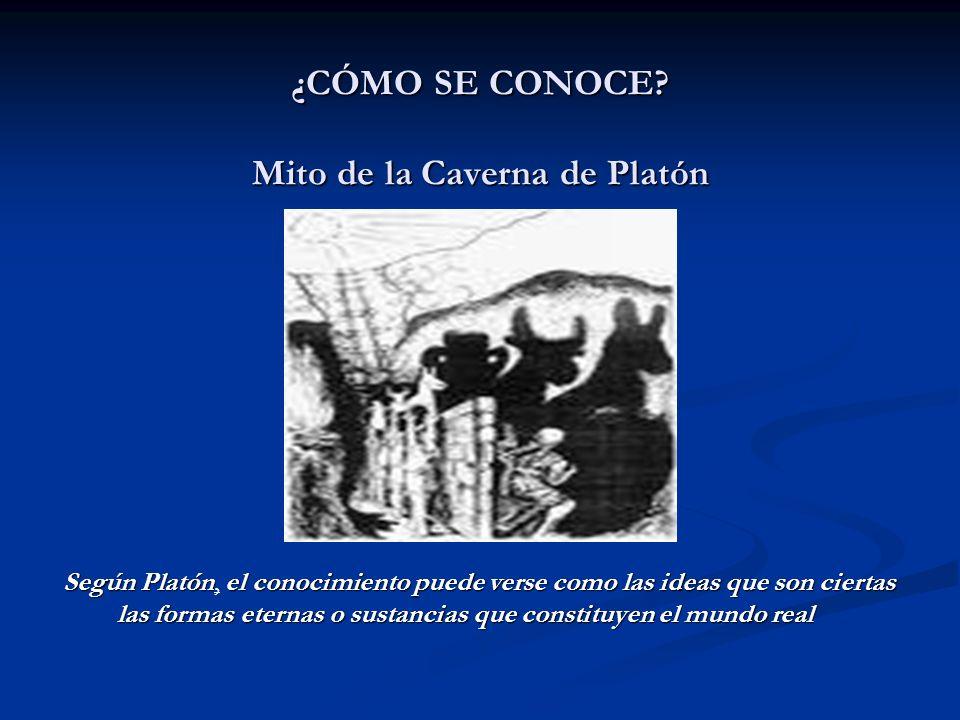 ¿CÓMO SE CONOCE Mito de la Caverna de Platón