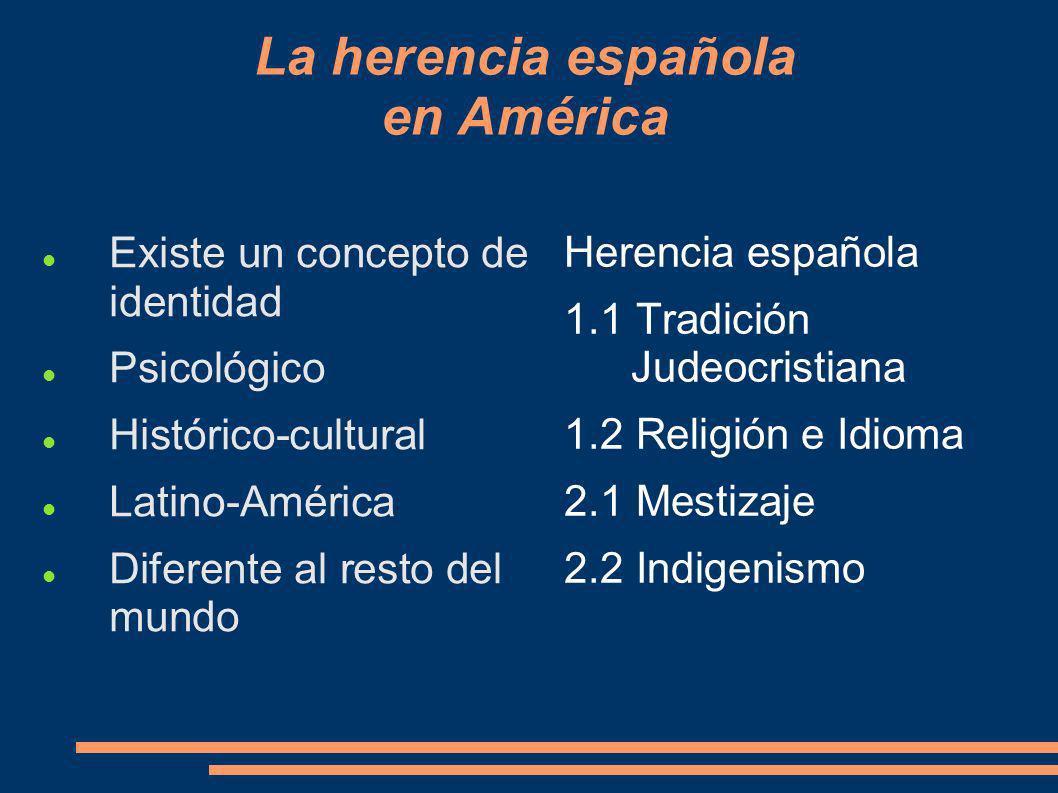 La herencia española en América