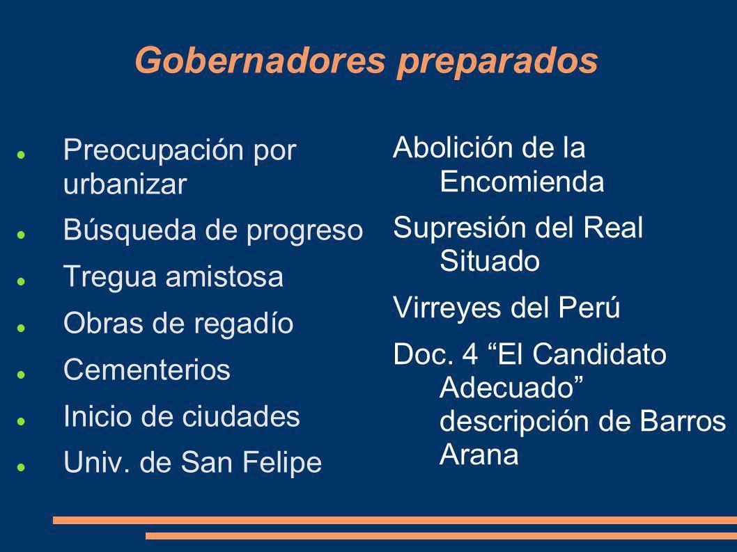 Gobernadores preparados
