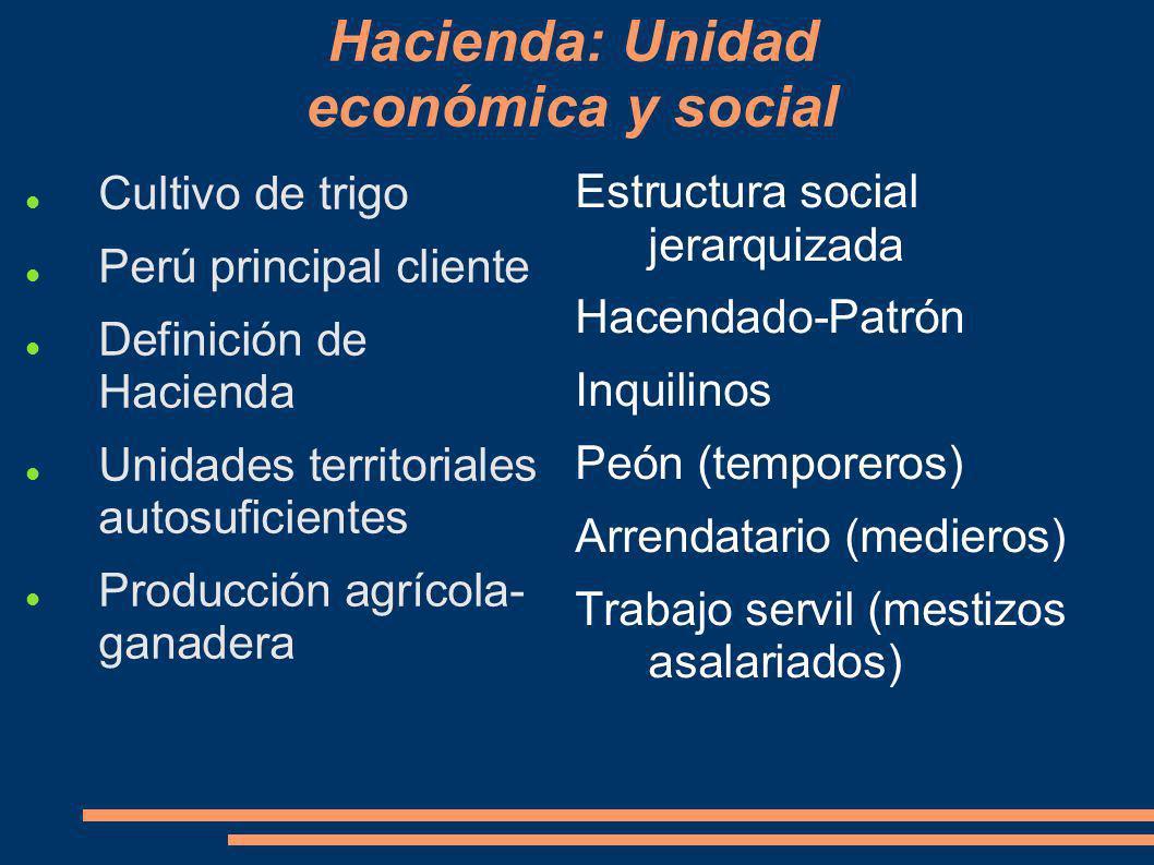 Hacienda: Unidad económica y social