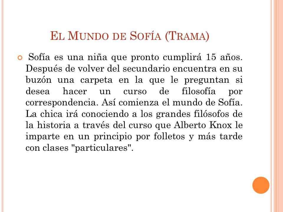 El Mundo de Sofía (Trama)