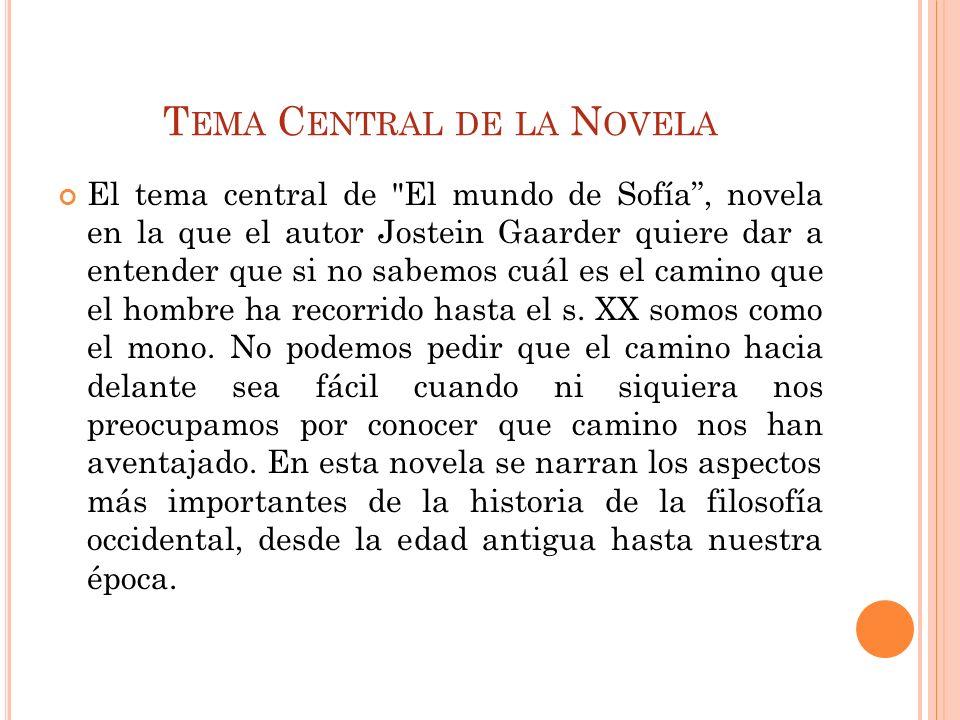 Tema Central de la Novela