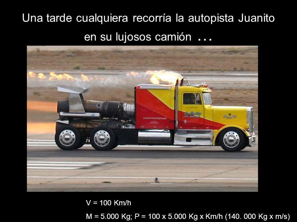 Una tarde cualquiera recorría la autopista Juanito en su lujosos camión …