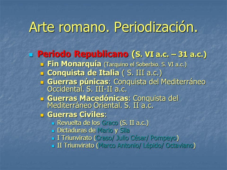 Arte romano. Periodización.