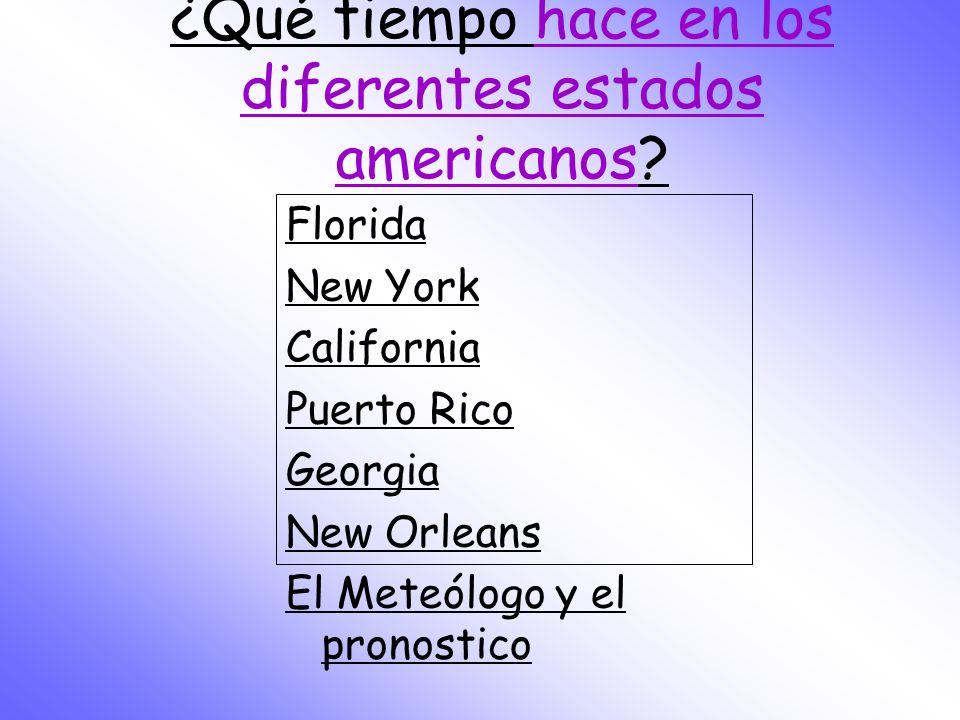 ¿Qué tiempo hace en los diferentes estados americanos
