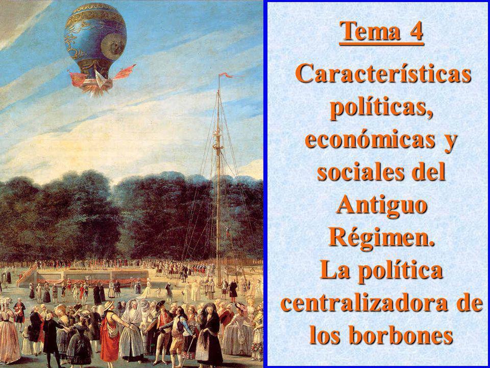 Tema 4Características políticas, económicas y sociales del Antiguo Régimen.