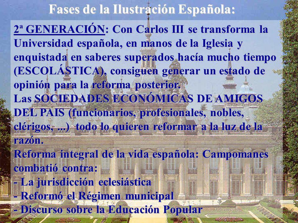 Fases de la Ilustración Española: