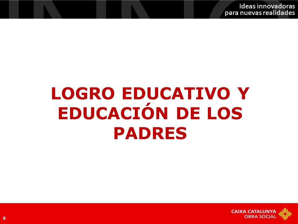LOGRO EDUCATIVO Y EDUCACIÓN DE LOS PADRES