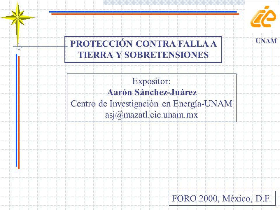 PROTECCIÓN CONTRA FALLA A TIERRA Y SOBRETENSIONES